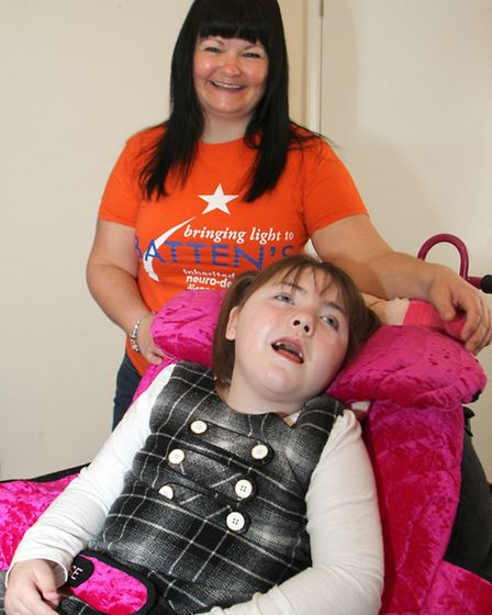 Bev Smith with her daughter Amelia Rose. Bev will be holding a fundraiser in April for Batten's dise