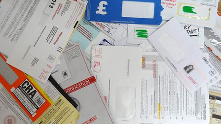 Some of the scam mail received by the elderly couple