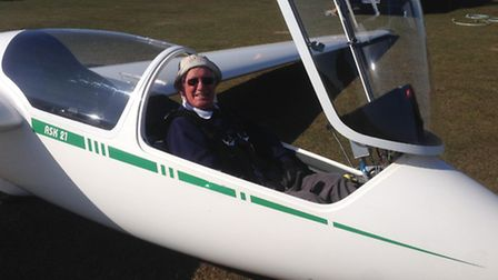 Sidmouth's Ray Dodd prepares to fly solo as he returns to the skies.