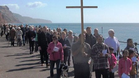 A walk of witness took place in Sidmouth last Friday. The Picture was taken by Professor Brian Goldi
