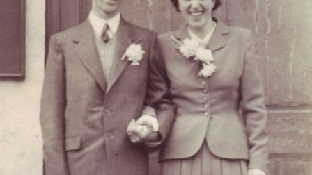 Chris and Dora Pring on their wedding day