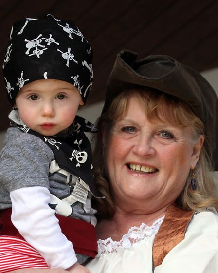 Pirate day at Pecorama. Picture by Alex Walton. Ref shb 9794-16-14AW. To order your copy of this pho