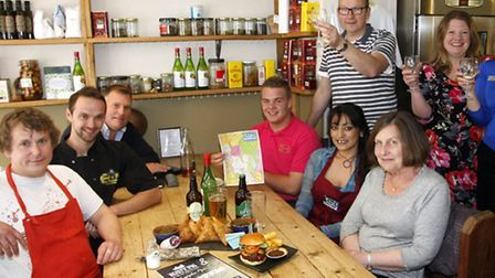 Organisers and sponsors of the Ottery St Mary food and families festival at the Rusty Pig. Photo by