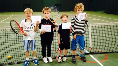 Charley Turley, Oscar Parkinson, Tom Barrett and Thomas Fletcher who did so well at the Aegon Team T
