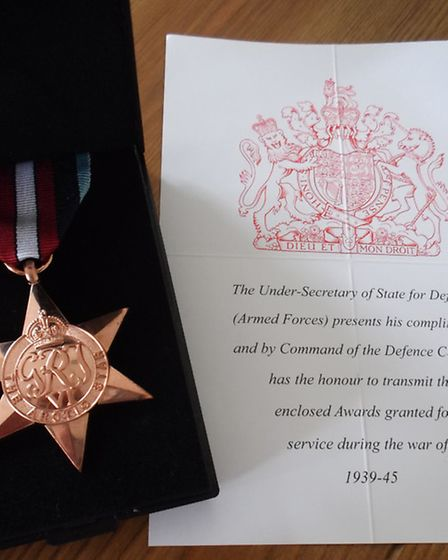 Ronald Russell's posthumously awarded Arctic Star