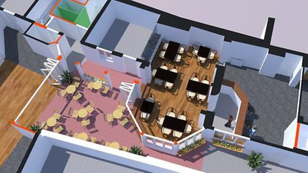 Architect's plans for the Red Lion