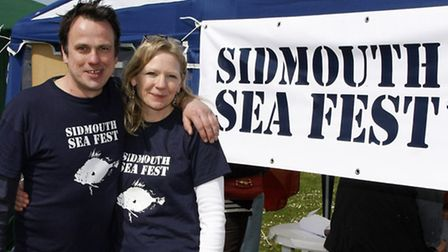 Matt Booth and Louise Cole organisers of the first Sidmouth sea fest. Photo by Terry Ife. Ref shs 41