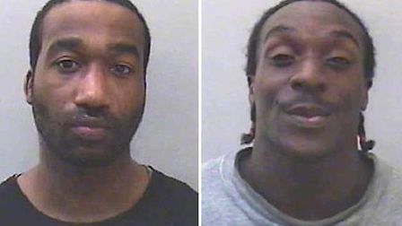 Kevin Liverpool (left) was jailed for life, and Junior Bradshaw was sentenced to 18 years