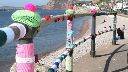 The railings by the York steps were brightened up on Good Friday as the were covered in colourful k