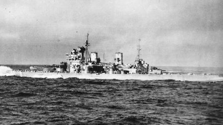 HMS Duke of York in March 1942 whilst escorting an Arctic Convoy