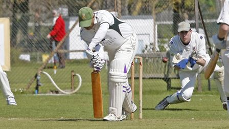 Saj Patidar batting for Sidmouth 2nds at home to Exeter.Photo by Terry Ife. Ref shsp 3954-17-14TI To