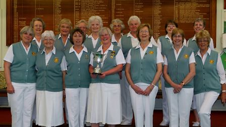 The Sidmouth ladies who were so succesful in the Foxlands Trophy