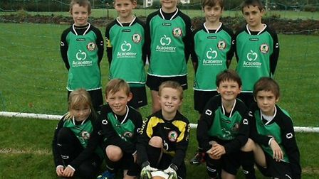 Sidmouth Warriors Under-9s who ended their season on a high defeating previously unbeaten Millwey Ri