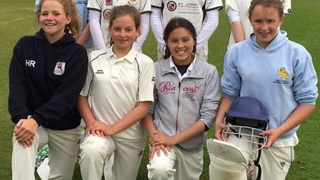 The Sidmouth Under-13 girls team