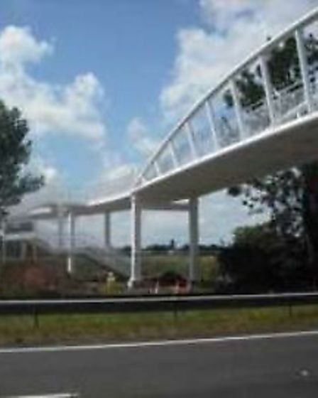 An example of the type of bridge that could be used to span the A3052 at Bowd