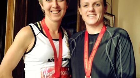 Adele Foxwell and Sue Campbell smashed their fundraising target.