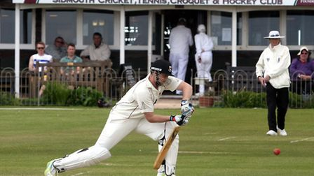 Liam Lewis at the crease against Cornwood. Photo by Terry Ife ref shsp 2442-21-13TI To order your co