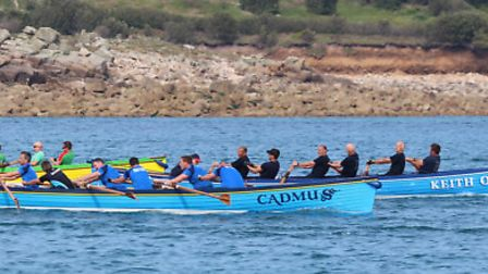 Sidmouth Gig Club's Keith Owen boat took to the water at the team's first World Championship on the