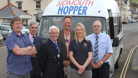 The Sidmouth Hopper Bus is now on the road for its summer season and picturted at the launch this we