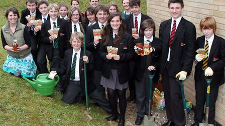Sidmouth Community College students pulled together to sow over 4000 poppy seeds in the college grou