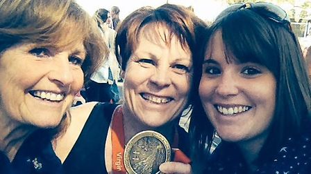 Fiona is pictured with her mum, Alison Marchant, and her daughter, Sasha Hargrave.