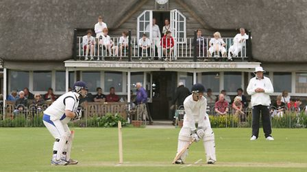 Sidmouth Cricket, Tennis, Croquet and Hockey Club at the Fortfield. Photo by Simon Horn. Ref shs 555