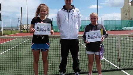 Hannah Rudgard winner of the girls event with Jessie Wiltshire runner up
