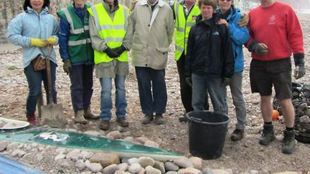 Volunteers turned out to restore Sidmouth's Oceanscene atttraction