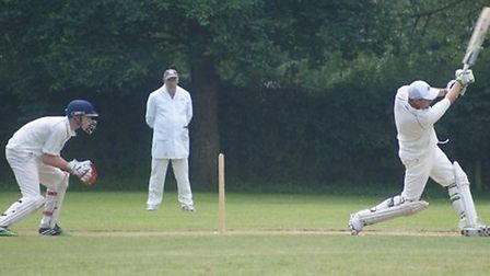 Tipton batsman Adam Gibbins in action against Sidbury