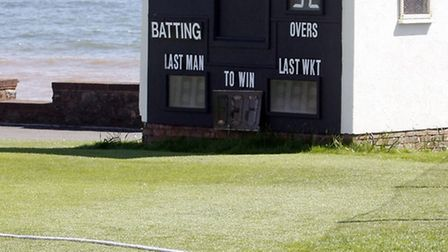 Sidmouth scorers hut. Photo by Terry Ife. Ref shsp 3963-17-14TI To order your copy of this photo go