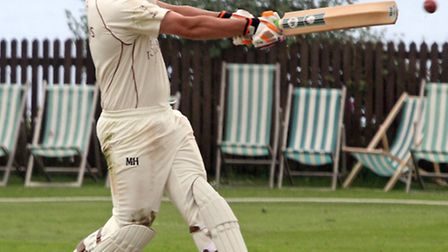 Sidmouth batsman Liam Lewis against Exeter. Photo by Terry Ife. Ref shsp 0696-23-14TI To order your