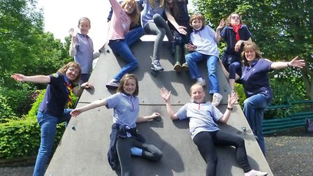 The 1st Sidmouth Girl Guides enjoy their day out at Pecorama in Beer.
