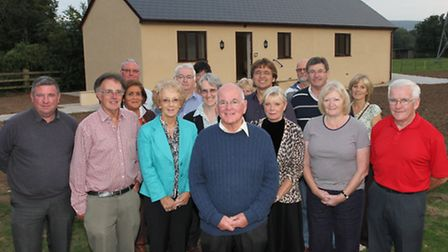 Ottery St Mary mayor Glyn Dobson and fellow councillors are pictured with members of local sports cl