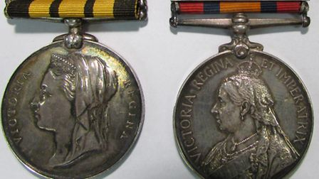 J. H. Squire's East and West Africa Medal, Queen's South Africa Medal and China War Medal