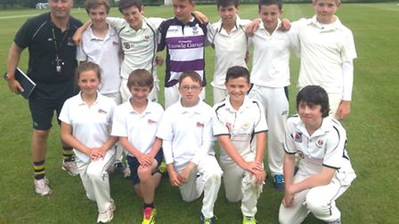 The Sidmouth College Under-13 cricket team