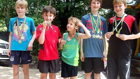 Sidmouth junior runners
