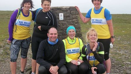 The AVR runners who travelled to Yorkshire to run the Yorkshire 3Peaks Challenge