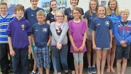 The Sid Vale Sharks who swam so well at Exmouth