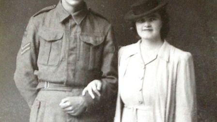 Bill and Edna on their wedding day in 1943
