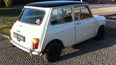 The 1968 MKII Austin Mini Cooper was stolen at some point between May 29 and May 30.