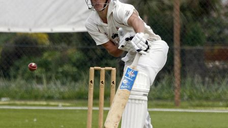 Josh Best batting for Sidmouth 1st team against Cornwood. Photo by Terry Ife. Ref shsp 4858-20-14TI