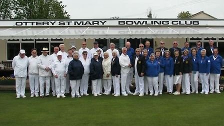 The Ottery St Mary bowlers at the start of a new outdoor season