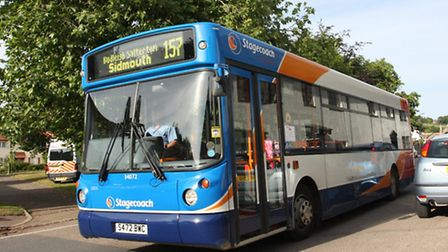 Beat the Bus-the Sidmouth bus leaves Otterton on Wednesday evening.Photo by Simon Horn. Ref shs 369