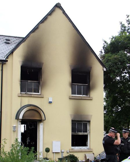 House fire in Howarth Close, Sidmouth. Ref shs 5270-25-14AW