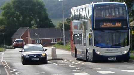 Concerned motorists overtaking busses near a pedestrian crossing in Stowford Rise make it the 'most