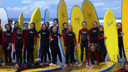Girls from both 1st and 2nd Sidmouth Guides enjoyed a trip to St Georges House in North Devon and on