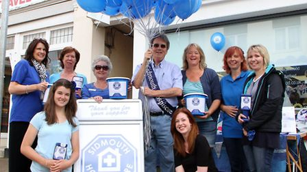 Sidmouth Hospiscare held their Blue Day fundraising event on Saturday, 5 July. Picture by Alex Walto