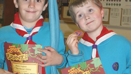 Mason and Joshua with their certificates