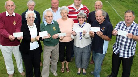 Proceeds from the Sid Vale Athletics meeting event were presented to choosen charities on Monday, 14