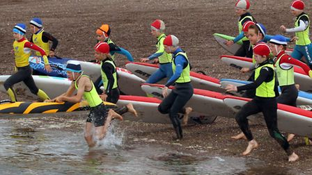 Devon Nippers Surflifesaving competition took place on Exmouth beach. Picture by Alex Walton. Ref ex